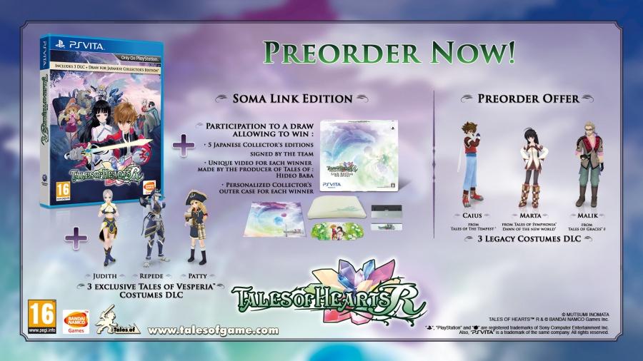 Tales of Hearts R Pre-Order Bonuses