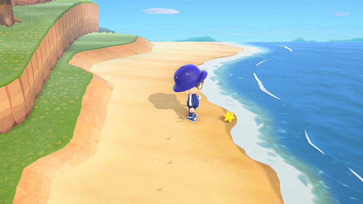 Finding a Star Fragment in Animal Crossing: New Horizons