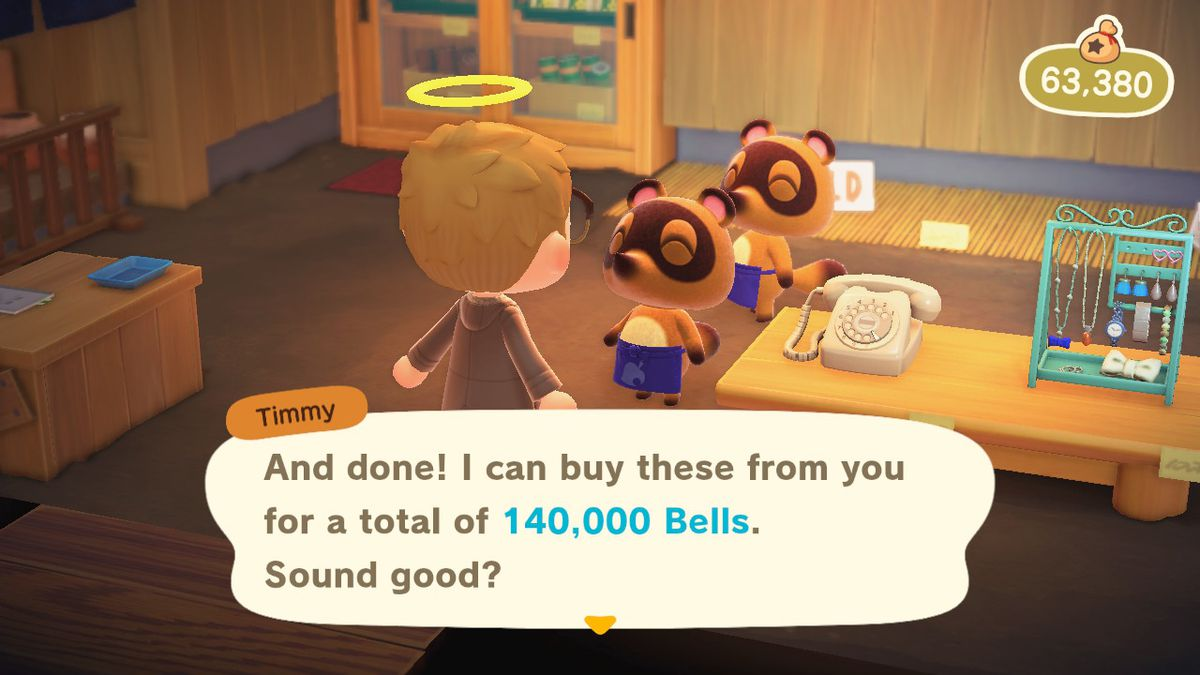 Selling a bunch of Hot Items in Animal Crossing New Horizons
