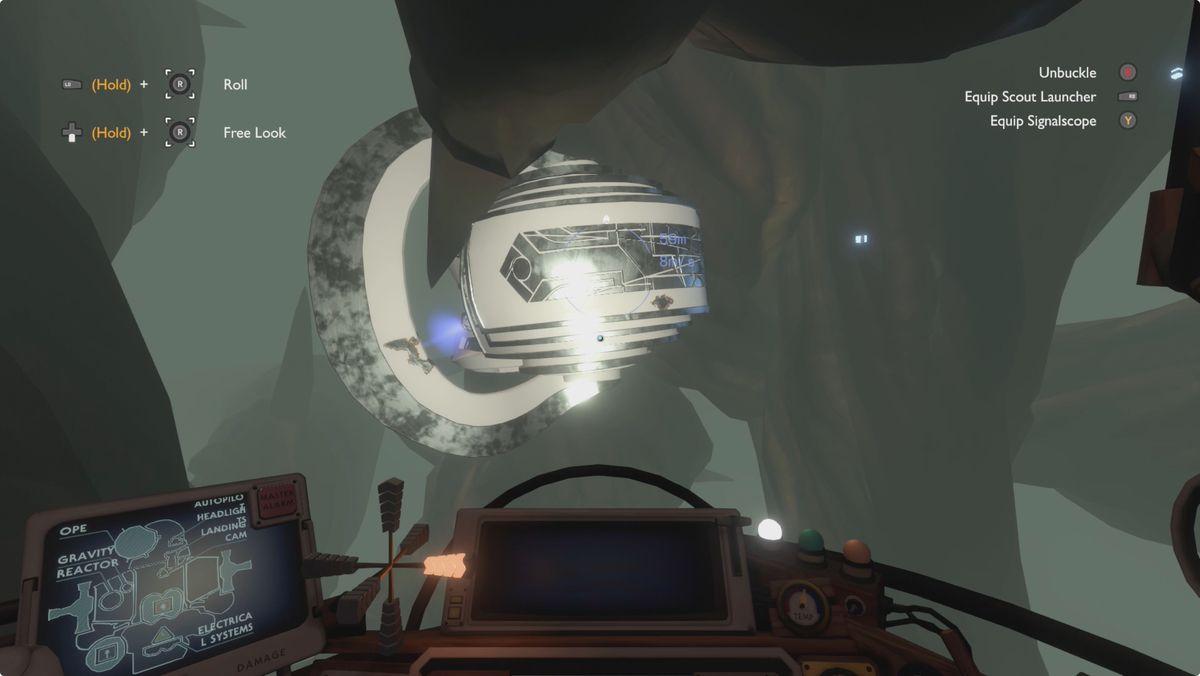Outer Wilds Dark Bramble Escape Pod 3 and Vessel