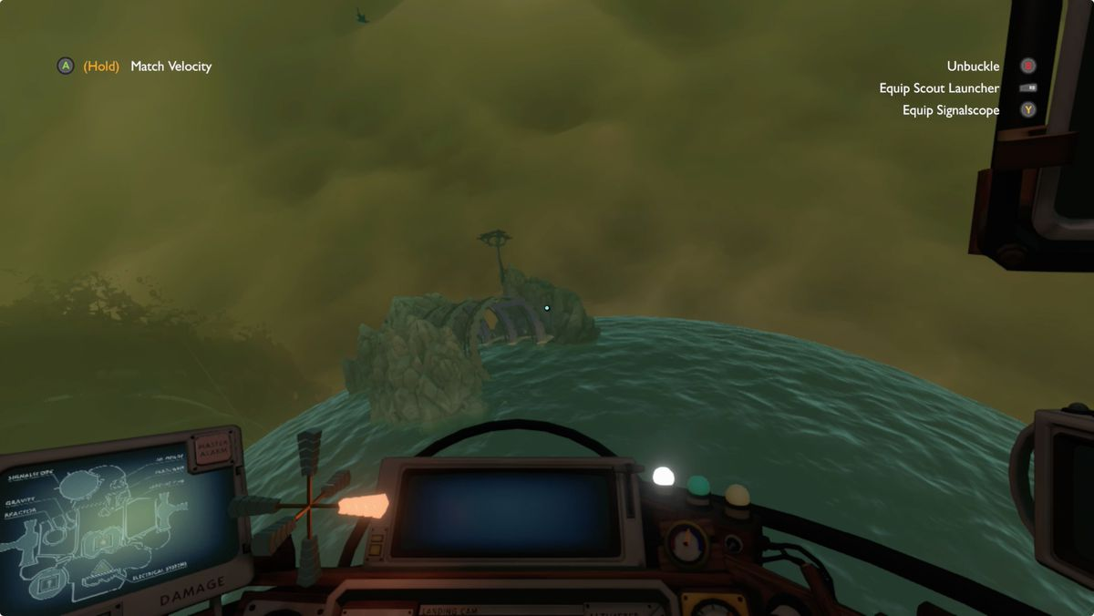 Outer Wilds Giant's Deep Construction Yard