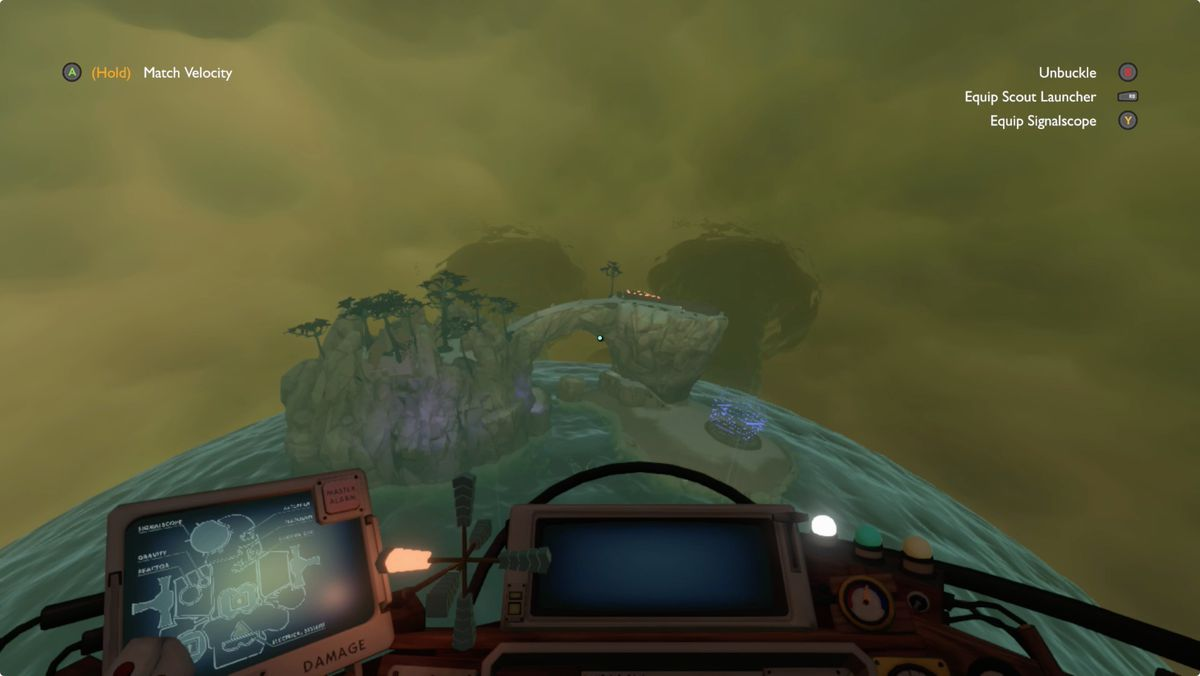 Outer Wilds Giant's Deep Statue Island