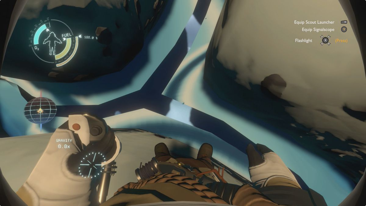 Outer Wilds guide The Interloper getting under the surface