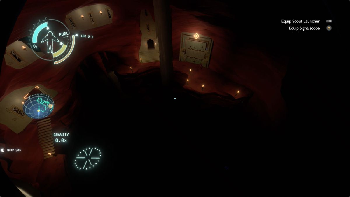 Outer Wilds Ember Twin Sunless City Stepping Stone District entrance