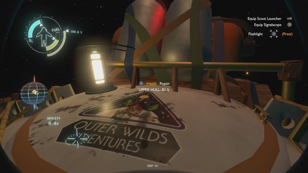 Outer Wilds beginner's guide repairing the ship