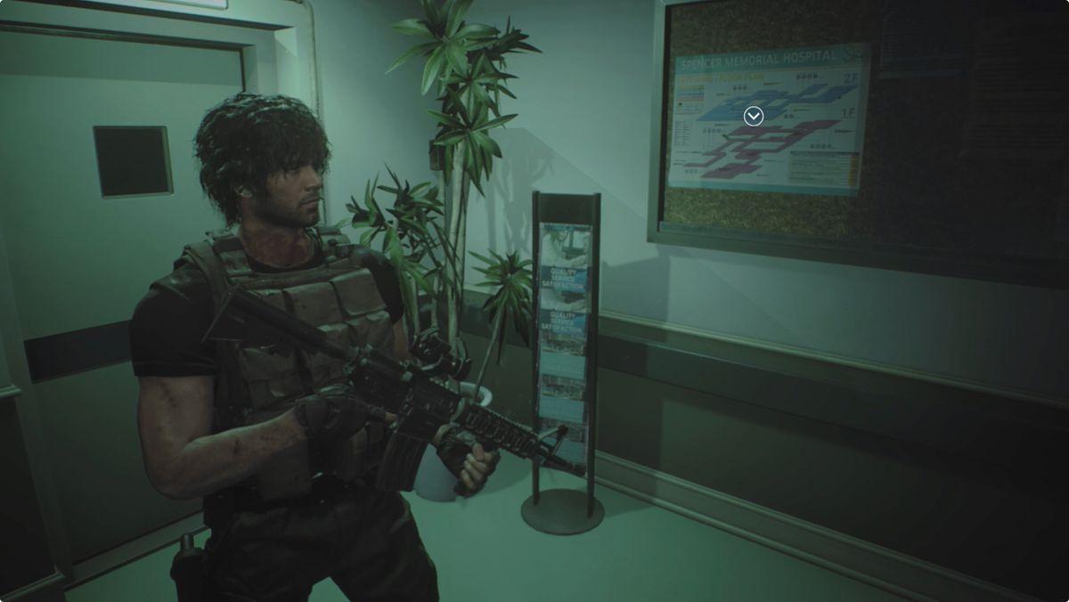 Resident Evil 3 Carlos Hospital map