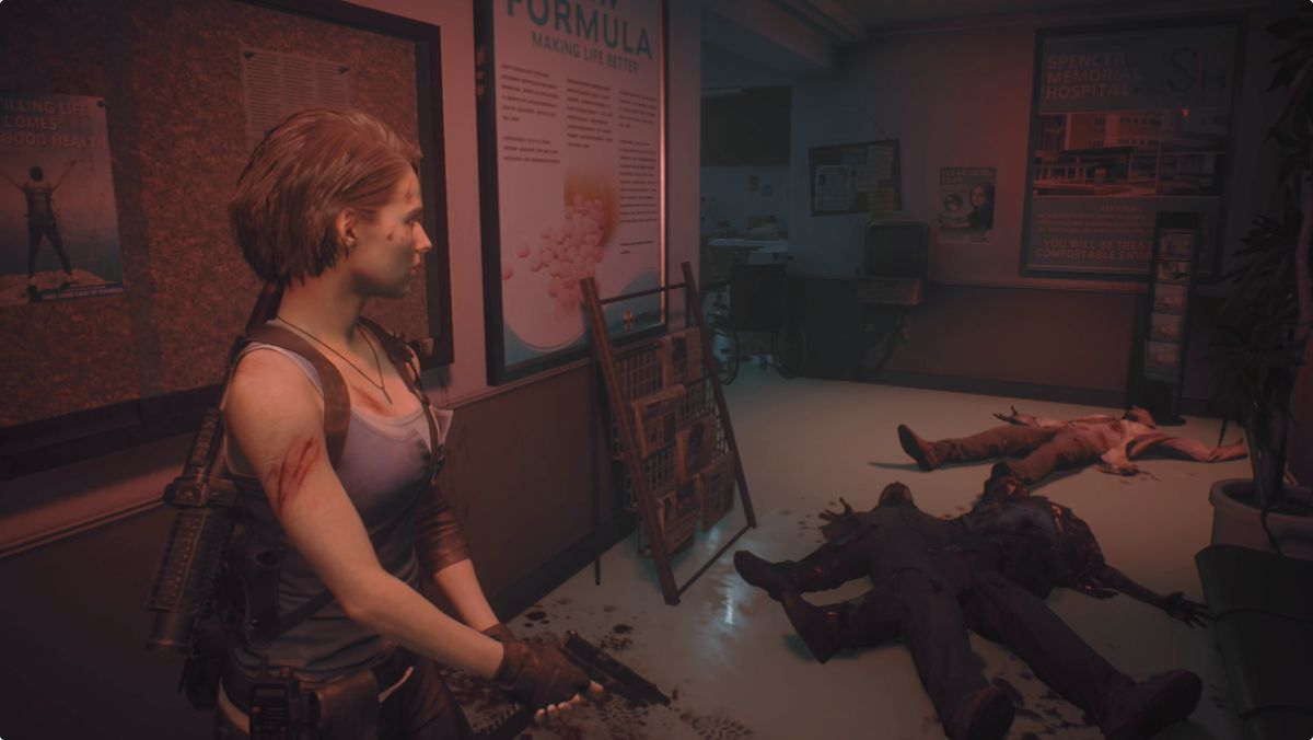 Resident Evil 3 Jill Hospital Reception