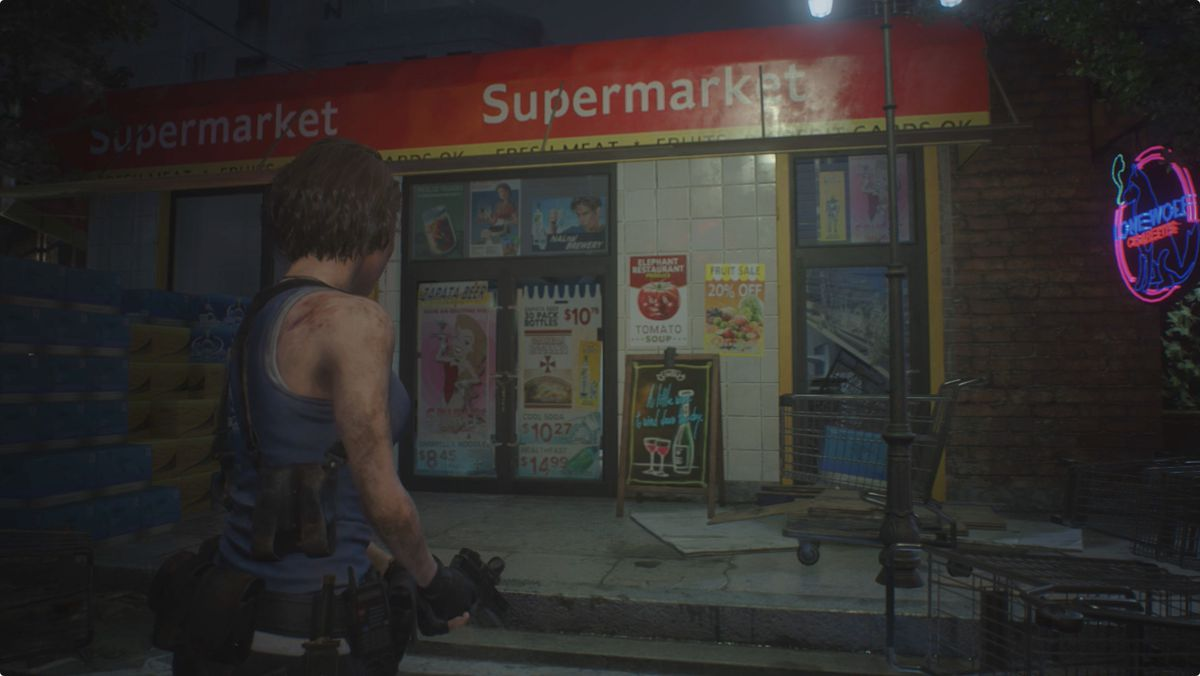 Resident Evil 3 backtracking walkthrough supermarket