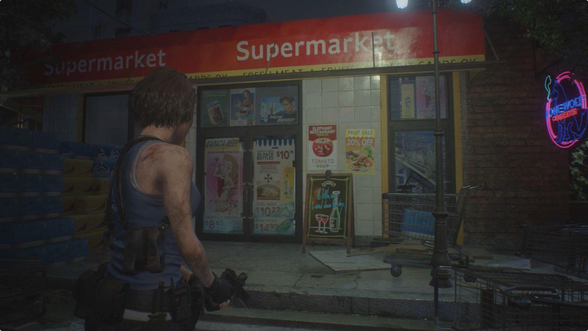 Resident Evil 3 backtracking walkthrough supermarket