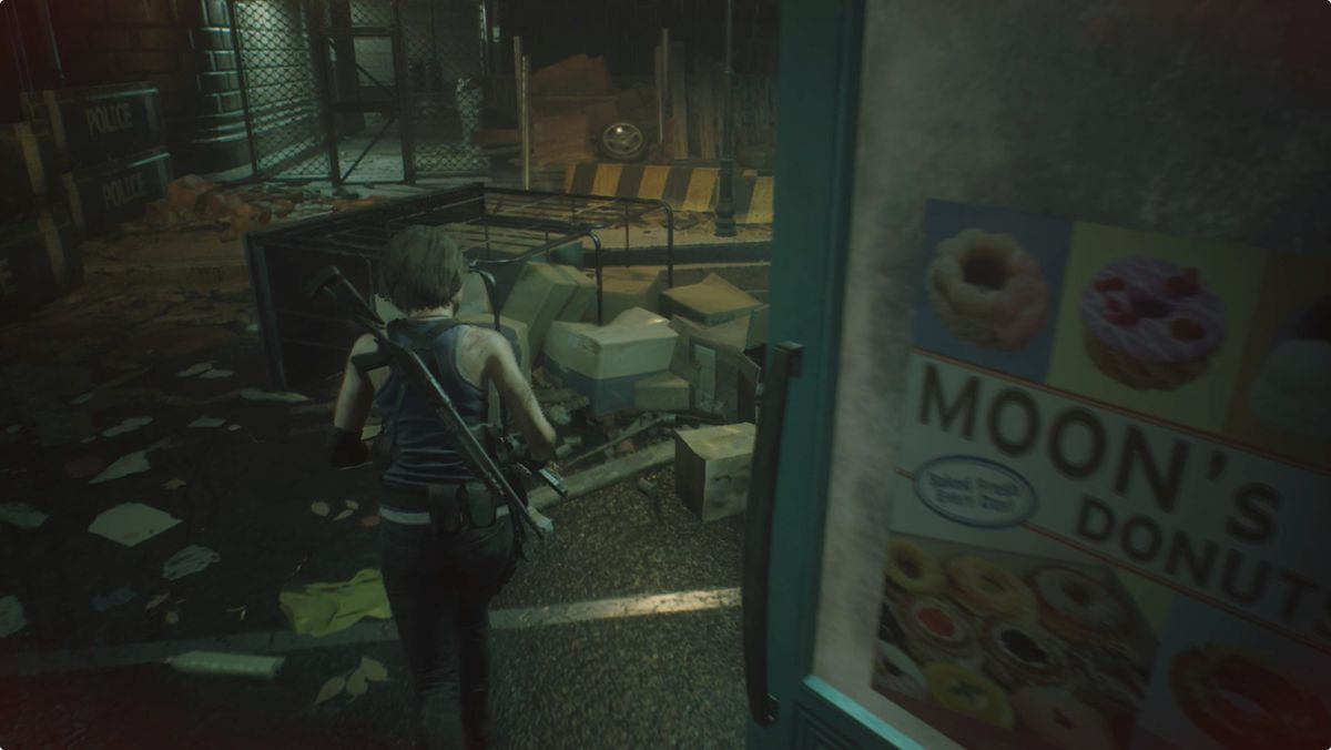 Resident Evil 3 backtracking Bolt Cutter alley Donut Shop