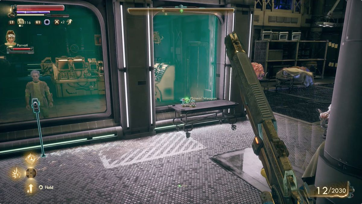 The Outer Worlds shrink ray science weapon Phineas' Lab