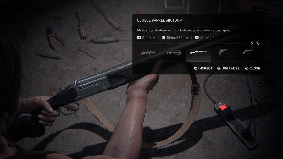 The Last of Us 2 Weapons Guide Double Barrel Shotgun