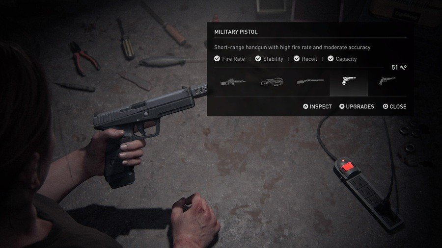The Last of Us 2 Weapons Guide Military Pistol