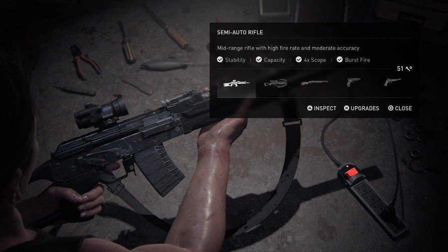 The Last of Us 2 Weapons Guide Semi-Auto Rifle