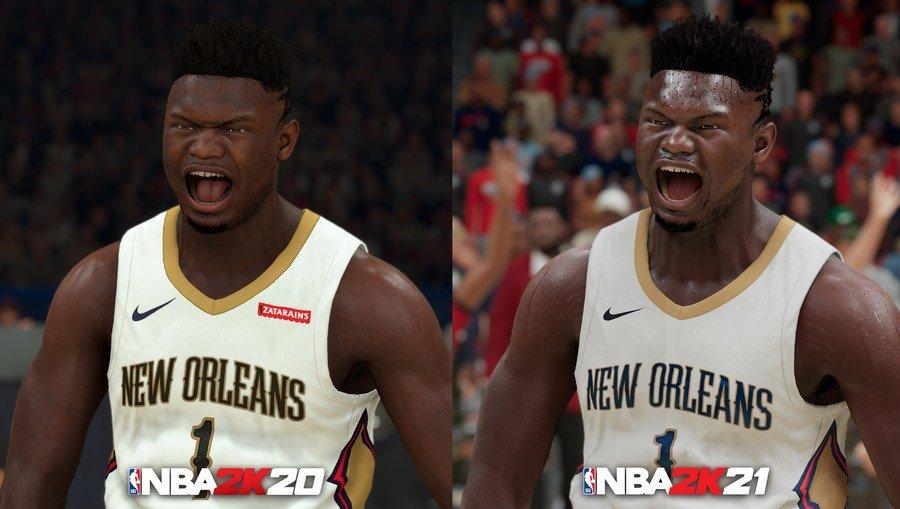 NBA 2K21 Next Gen Zion Williamson Comparison NBA 2K20